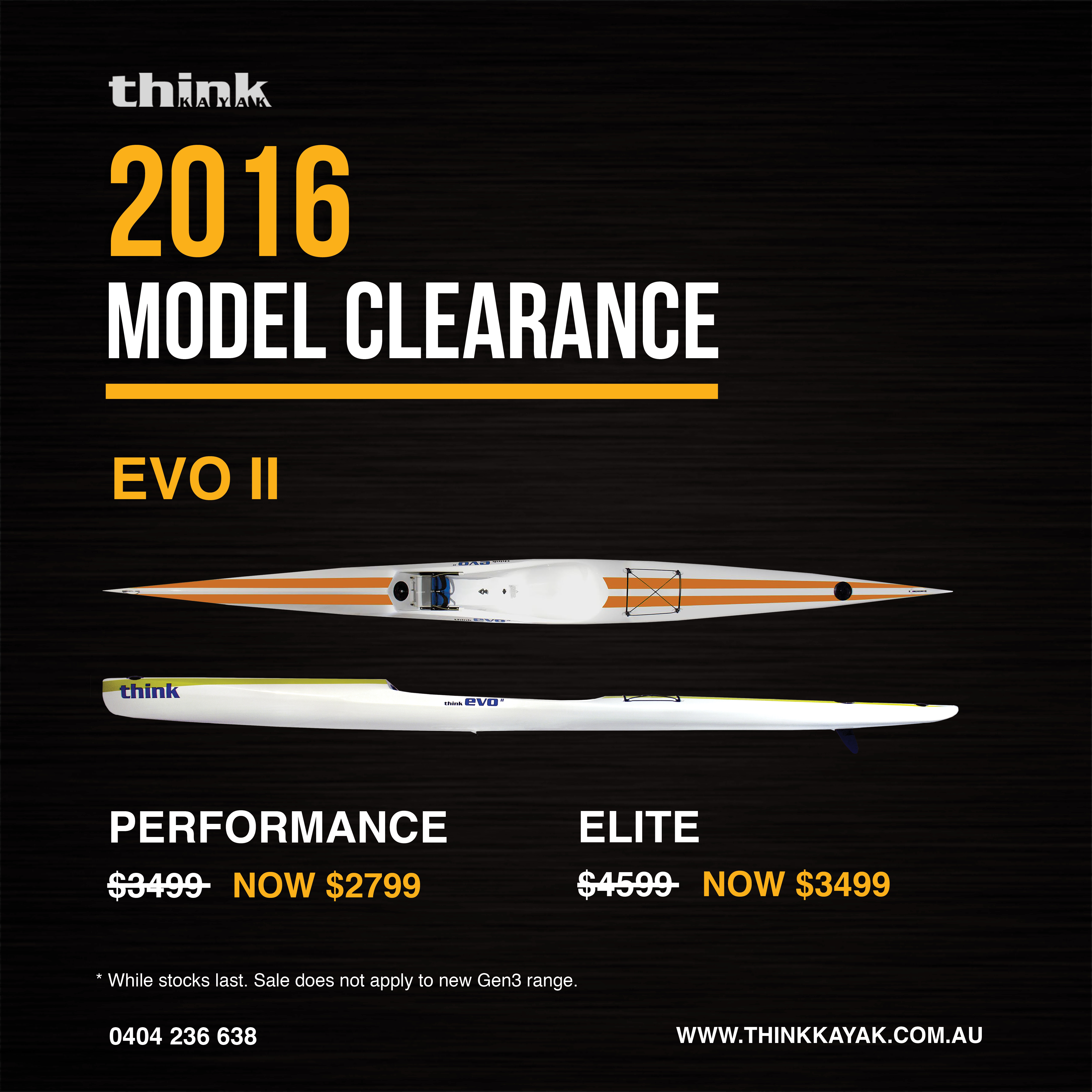 2016 Model Clearance Think Kayak